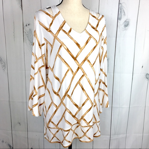 cd437d45890 Chico's Tops | Chicos Sz 3 Amazon Bamboo Print Top | Poshmark